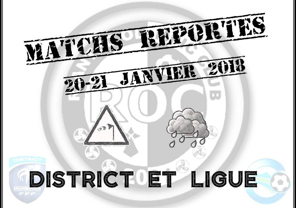 Report des matchs de Ligue et de District